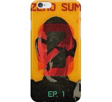 Zer0 Sum Vintage Poster iPhone Case/Skin