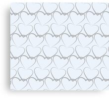 Hearts Pattern Texture Canvas Print
