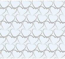 Hearts Pattern Texture Photographic Print