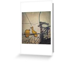 You must be seeing flying frigging yellow Vespas ... Greeting Card