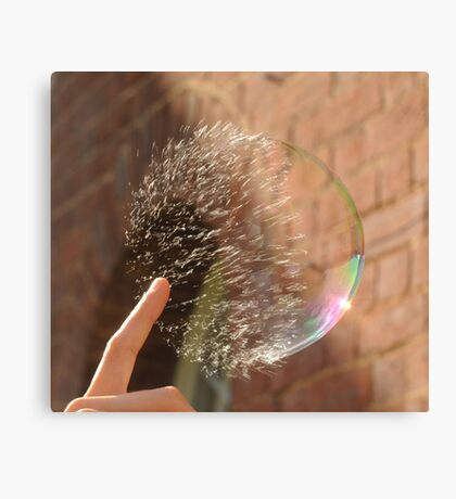Popping Soap Bubble Canvas Print