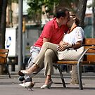 Kiss on the promenade by MichaelBr