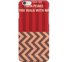 No169 My Fire walk with me minimal movie poster iPhone Case/Skin