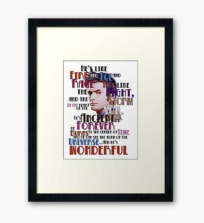 wonderful doctor Framed Print
