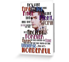 wonderful doctor Greeting Card