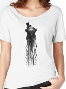 JELLYFISH WITH A TOP HAT - BY THE RURAL DRAWER Women's Relaxed Fit T-Shirt