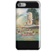 Dragon Boat rowing race Watercolor Painting id1360033  iPhone Case/Skin