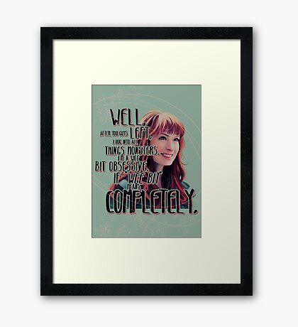 Obsessed Framed Print