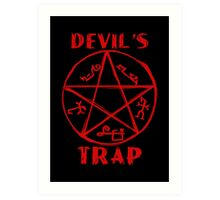Devil's trap Art Print