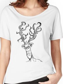 Deer Monster - by the Rural Drawer Women's Relaxed Fit T-Shirt