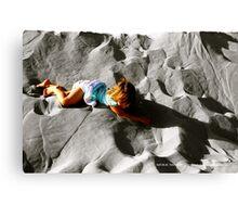Girl on sand dune Canvas Print