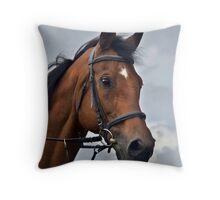 three horses (1) Throw Pillow