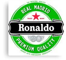 Cristiano Ronaldo Real Madrid Parody Logo Canvas Print
