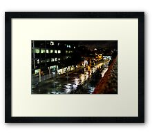 Lone Figure In The Plaza Framed Print