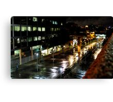 Lone Figure In The Plaza Canvas Print