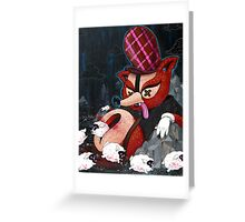 Out Foxed Greeting Card