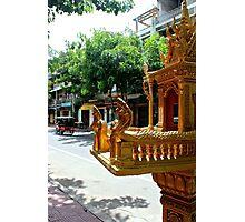 Khmer Altar in the street - Phnom Penh, Cambodia. Photographic Print