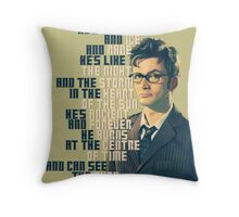 David Tennant - He's wonderful Throw Pillow