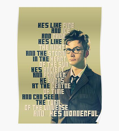 David Tennant - He's wonderful Poster