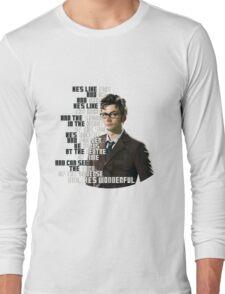 David Tennant - He's wonderful Long Sleeve T-Shirt