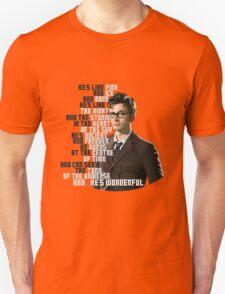 David Tennant - He's wonderful Unisex T-Shirt