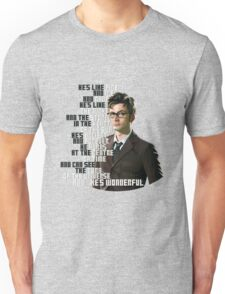 David Tennant - He's wonderful Unisex T-Shirt