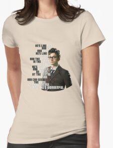 David Tennant - He's wonderful Womens Fitted T-Shirt