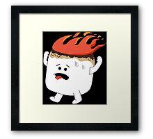 Marshmallow Funny Geek Nerd Framed Print