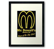 Mc Dowells Funny Geek Nerd Framed Print