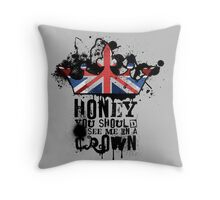 H☻ney Throw Pillow