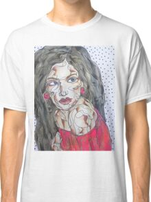 Woman In Red Dress Classic T-Shirt