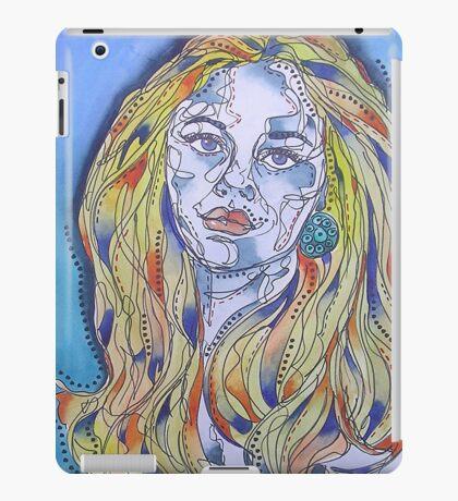 Blue Woman iPad Case/Skin