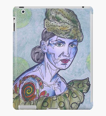 Tattooed Woman In Green iPad Case/Skin