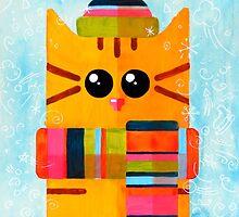 Funny winter cat by maralingstad