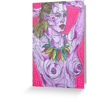 Nude on Pink Ground Greeting Card