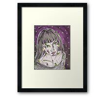 Goth Girl Framed Print