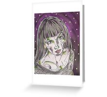 Goth Girl Greeting Card