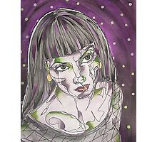 Goth Girl Photographic Print