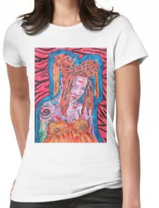 Goth Girl With Big Hair Womens Fitted T-Shirt