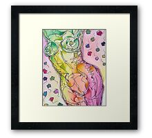 Colourful Nude Torso Framed Print