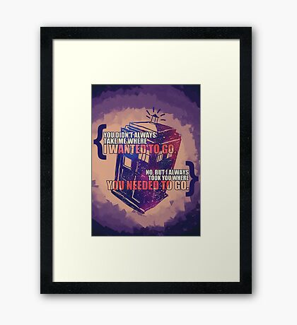 Idris - Doctor Who Framed Print