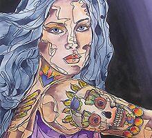 Big Tattoo Woman by gailmiller