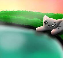 The Curious Cat by xiaojiemei