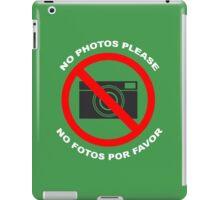 No Photos Please Funny Geek Nerd iPad Case/Skin