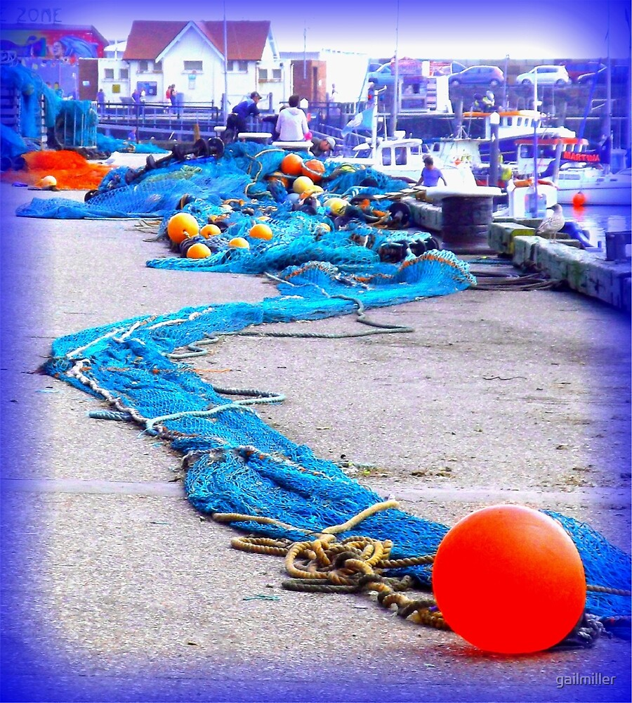 Scarborough Harbour Blue by gailmiller