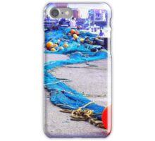 Scarborough Harbour Blue iPhone Case/Skin
