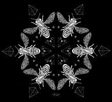 Mandala ~ Killer Bees (blackened) by thirdeyeofnewt