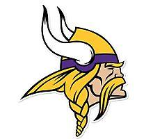Minnesota viking logo Photographic Print