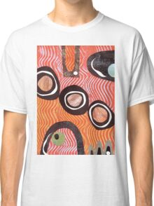 Funky retro orange print Classic T-Shirt