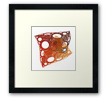 Red Cheese Fractal Framed Print